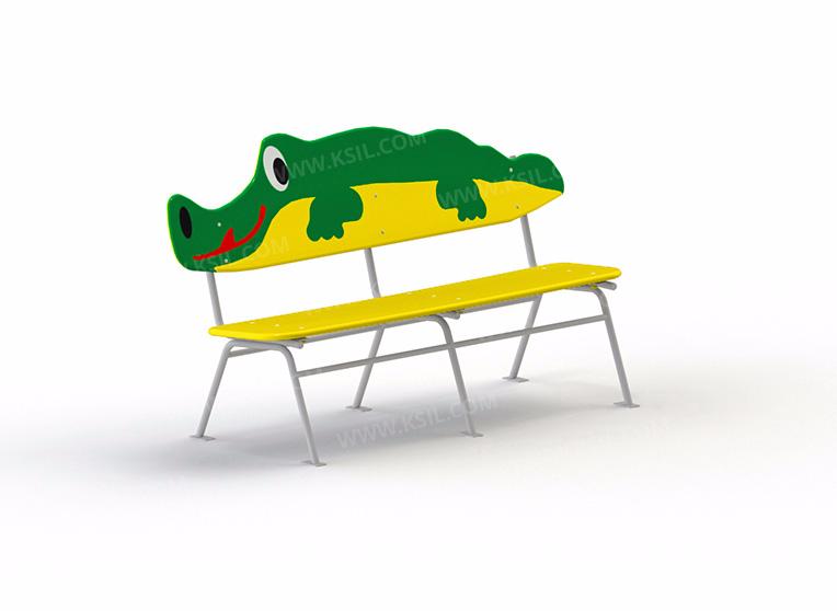 """Скамейка детская """"Крокодил"""""""